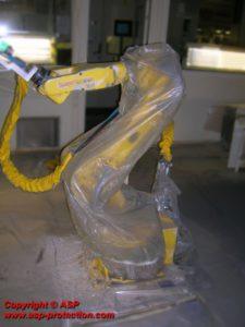housse protection robot cover jetable fanuc fpe automobile ASP eulmont