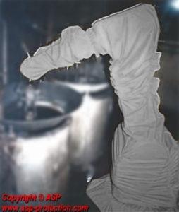 housse protection robot cover fonderie telupro ABB ASP eulmont