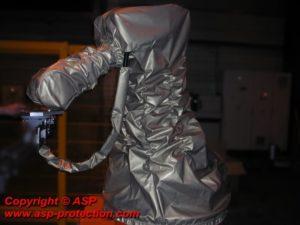 housse protection robot cover meulage plasma tissu TKS alu ASP eulmont