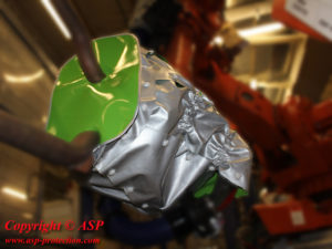 housse protection robot cover ferrage ignifuge plastron pince a souder cmc ASP eulmont