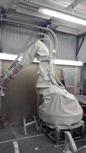 housse protection robot cover elastomere technique T1a TPE grenaillage sablage aeronautique ASP eulmont