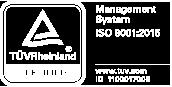 Certification iso 9001:2015 TUV Rheinland