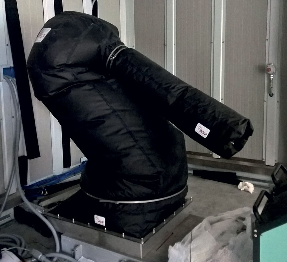 housse protection robot cover zone atex 1 ou atex 21 tissu Tatex ASP eulmont